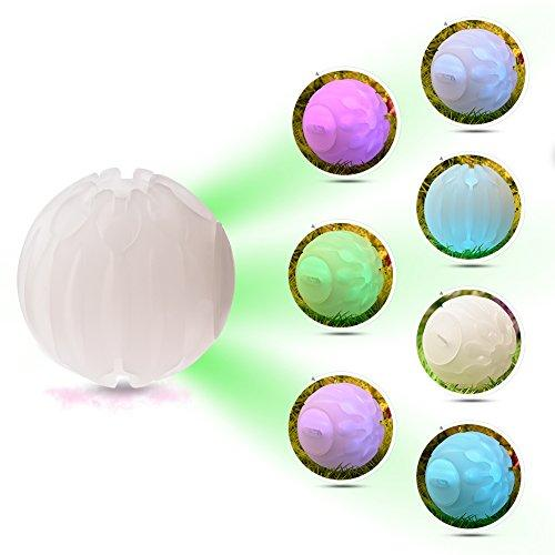 Yunt LED Dog Ball Glow Balls Pet Toys Bounce Light Ball Blinking Toys for Dogs Night Play
