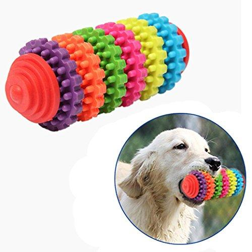 vmree Pet Bite Toys, Pet Dog Puppy Rubber Dental Teething Healthy Teeth Gums Chew Toy (Multicolor)