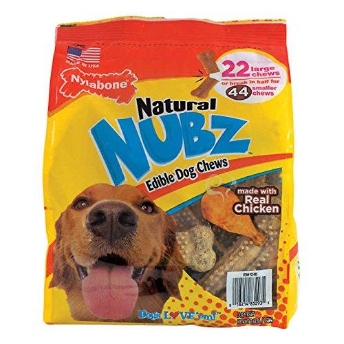 Nylabone Natural Nubz Edible Dog Chews, Value Size 3 Pack ( 66ct Total)