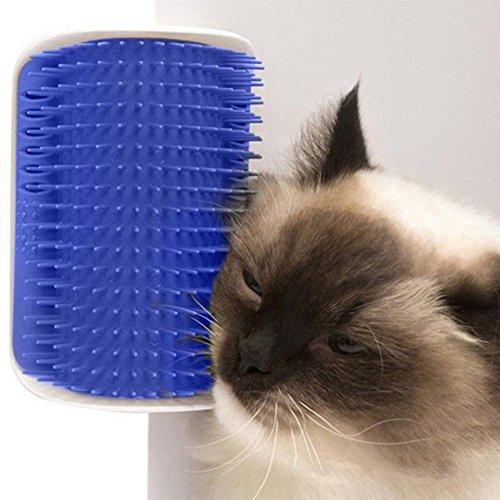 Zeroyoyo Pet Cats Supplies Device Self Groomer Cat Massage Catnip Toy Cat Brush Tool