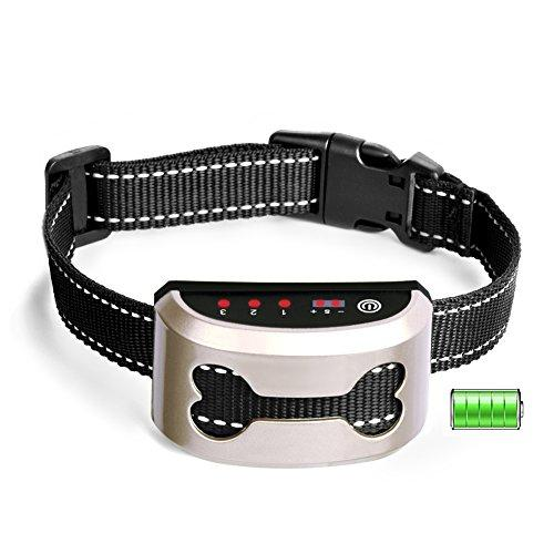 YoTilon Bark Collar-2018 Upgrade-Dog Bark Collar Rainproof and Rechargeable with Smart Detection No Harm Shock/Beep Ultrasonic Anti Bark Modes, Adjustable Sensitivity For Small Medium Large Dogs