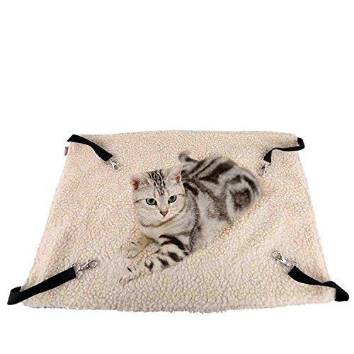 Xbes Cat Hammock Bed Hanging Soft Pet Bed Use with Crate, Cage or Chair For Kitten, Ferret, Puppy, or Small Pet
