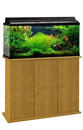Aquatic Fundamentals 36301-44-AMZ   30/38/48 Gallon Upright Aquarium Stand, Solar Oak