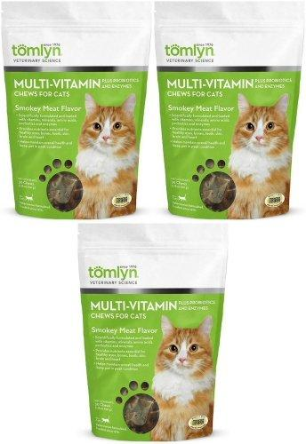 Tomlyn Multi-Vitamin Chews for Cats Smokey Meat 90ct (3 x 30ct)
