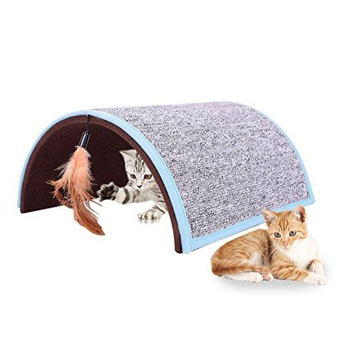 Midsummer Carpet Arch Cat Scratch Board Pet Tunnel House Tent Cat Litter Beds Multifunctional Dog House and Pet Toys,Collapsible,Often used in homes, outdoors, courtyards, parks and during journey