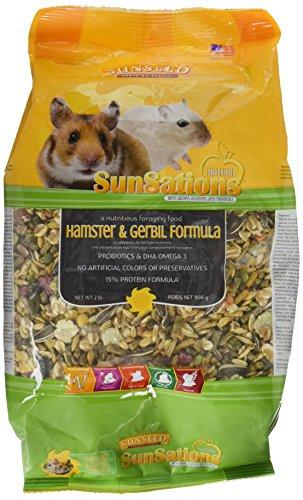 --SUNSEED COMPANY 36058 1 Piece Sunsations Natural Hamster/Gerbil Formula Food Treat, 2 lb--