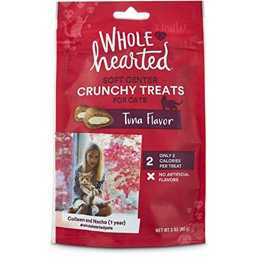 WholeHearted Soft Center Crunchy Tuna Flavor Treats for Cats, 3 oz