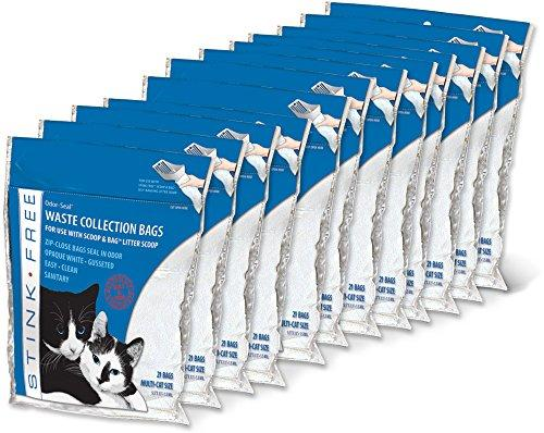 Odor-Seal Cat Litter Waste Collection Bags (fits Scoop&Bag) 12 Pkgs (252 Bags)