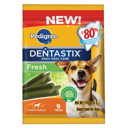 Pedigree Dentastix Fresh Oral Care Treats for Dogs, Small/Medium, 5-Ounce (Pack of 5)