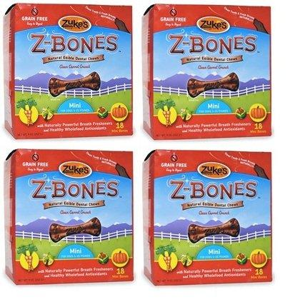 Zukes ZBones Edible Dental Chews Mini Clean Carrot Crunch 72 count (2.06 lbs)