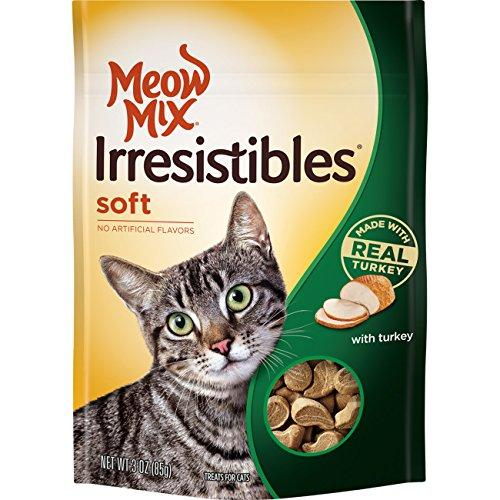 Meow Mix Irresistible Soft Cat Treats with Real Turkey, 3 oz