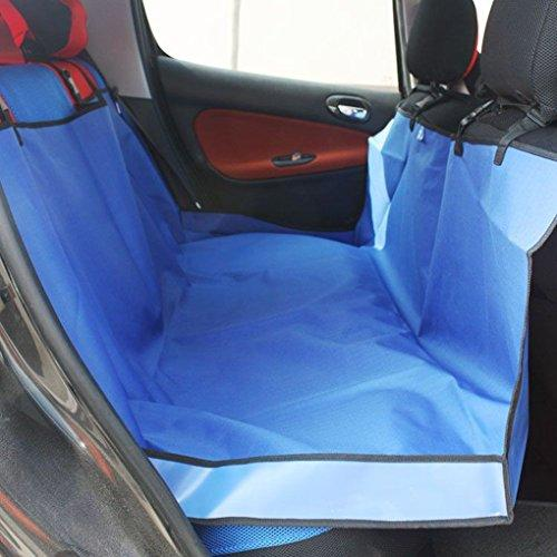 Waterproof Durable Oxford Protective Rear Automative Car Seat Cover Protection Heavy Duty Hammock Bedding Cushion Pad Mat, Great for Large & Small Pets, 140147cm Blue by Fakeface