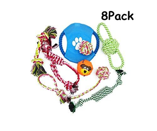ZOY 8 Pack Puppy Chew Dog Rope Toys Assortment for Small Medium Large Breeds