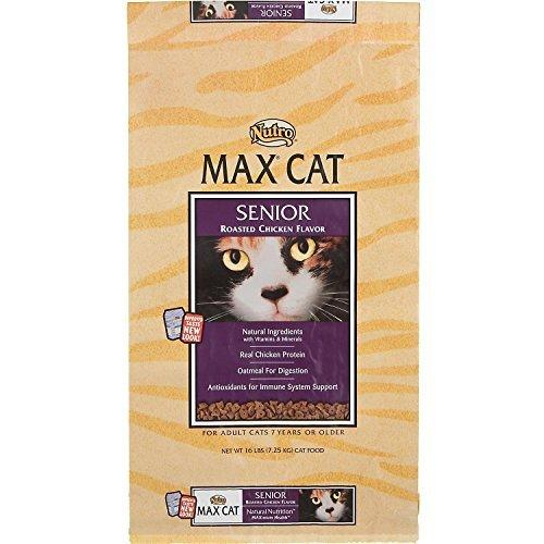 NUTRO MAX CAT Senior Roasted Chicken Flavor Dry Cat Food 3 Pounds by Nutro