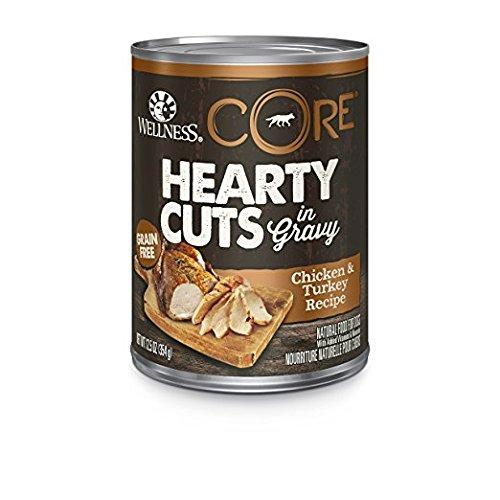 Wellness Core® Hearty Cuts Wet Grain Free Dog Food, Chicken & Turkey, 12 Cans