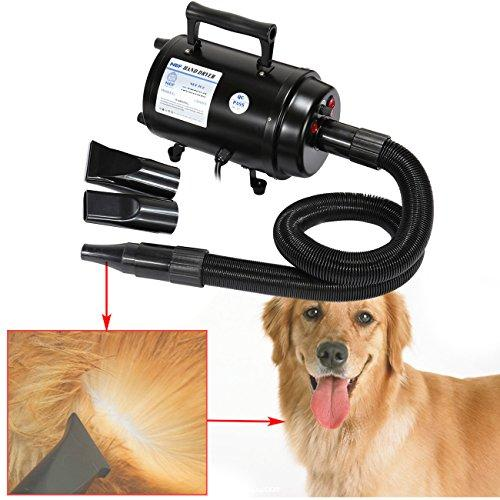 Ridgeyard 2800w Cats Dogs Hair Blow Dryer Pet Grooming Home Bathing Draw Hairdryer High Speeds Adjustable Heat Portable Hair Dryer w/ Heater