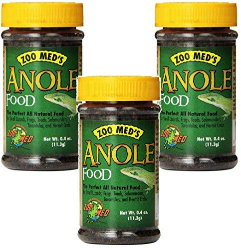 (3 Pack) Zoo Med Anole American Chameleons Food, 0.4-Ounce each