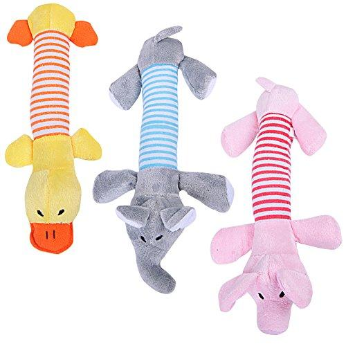 Zerlar Pet Plush Squeaker Chew Squeaky Toys For Dogs Puppies Interactive Play