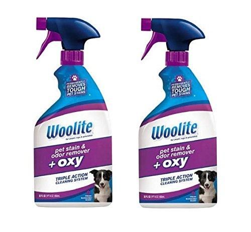 Woolite Pet Stain & Odor Remover + Oxygen Trigger (Packaging May Vary) (22 oz-Pack of 2)