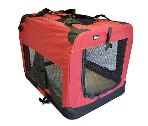 topPets Portable Soft Pet Carrier or Crate or Kennel for Dog, Cat, or other small pets. Great for Travel, Indoor, and Outdoor (Maroon Red, Large: 28x20x20) by topPets