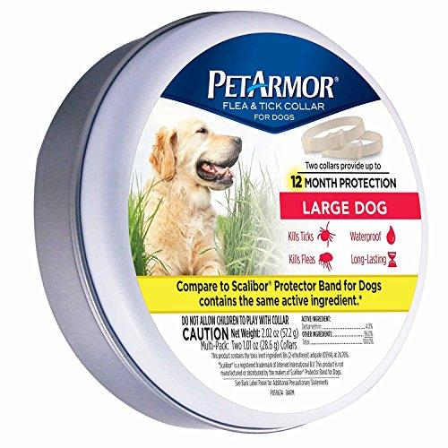 PetArmor Flea and Tick Collar for Dogs, Large, 2 count