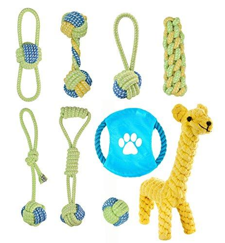 Lylyzoo Dog Rope Toy, Pet Dog Chew Toy, Durable Interactive Cotton Toys Dental Health Teeth Cleaning for Small, Medium Dog Pets