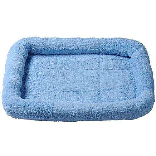 YINGLI Fashion Pet Bed -Pets Bed Pets Bolster Breathable Dogs Cats Pets Cushion Beds Mats (M, Blue)