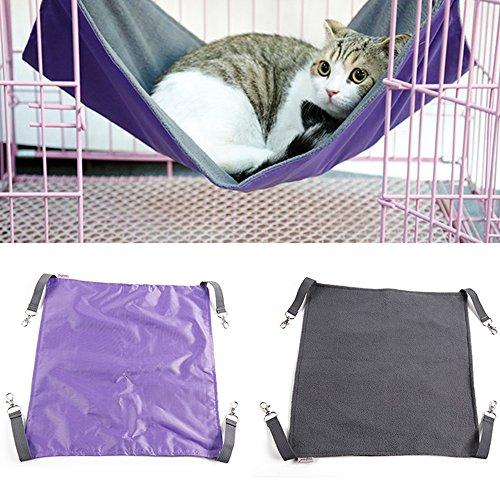 ZHWKY Cat Hammock Pet Hanging Bed Comfortable Pet Cat Cage Comforter Multi Functional Waterproof Cat Blanket Cat Beds