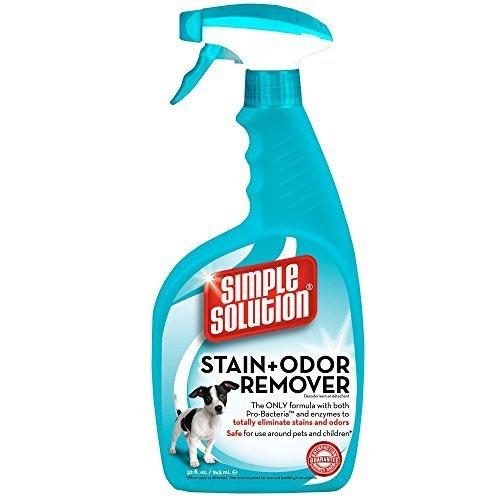 SIMPLE SOLUTION Stain Odor Remover for CATS DOGS (32 oz) by Simple Solution