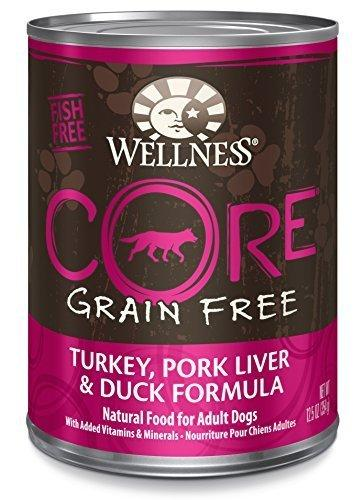 Wellness CORE Natural Grain Free Wet Canned Dog Food, Turkey, Pork Liver and Duck Recipe, 12.5-Ounce (Pack of 12) by WellPet LLC
