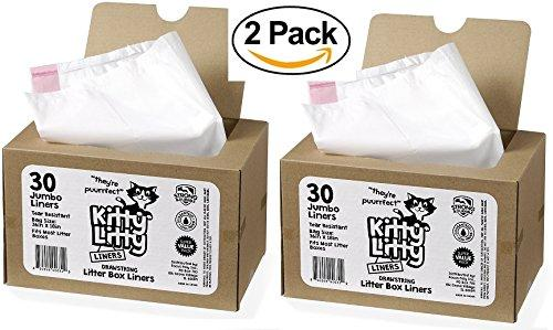 Cat Litter Box Liners 60 Count Drawstring Cat Waste Liners