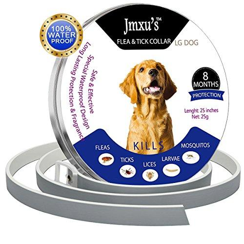 MEINA Flea Collar for Dogs - Flea and Tick Prevention Collar for Large Dog and Puppy - Safe and Hypoallergenic - Waterproof Dog Anti Flea Collar - 8 Months Protection - 25in - All Sizes Dogs