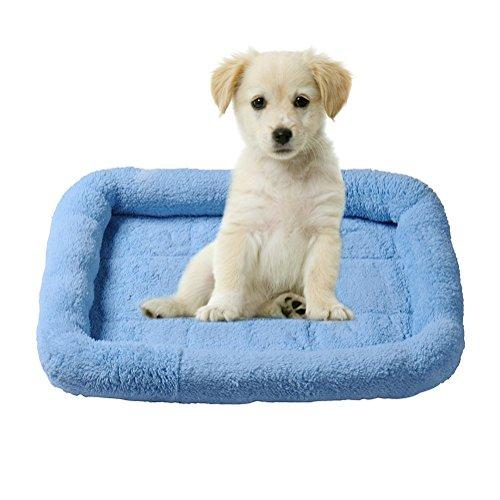 Ltuotu New arrive 4 Colors Fashion Pets Bed Pets Bolster Breathable Dogs Cats Pets Cushion Beds Mats 3 sizes (S, Blue)