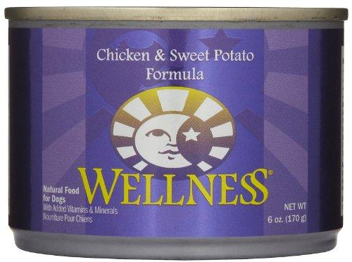 Wellness Complete Health Natural Wet Canned Dog Food Chicken & Sweet Potato Recipe - 24x6oz