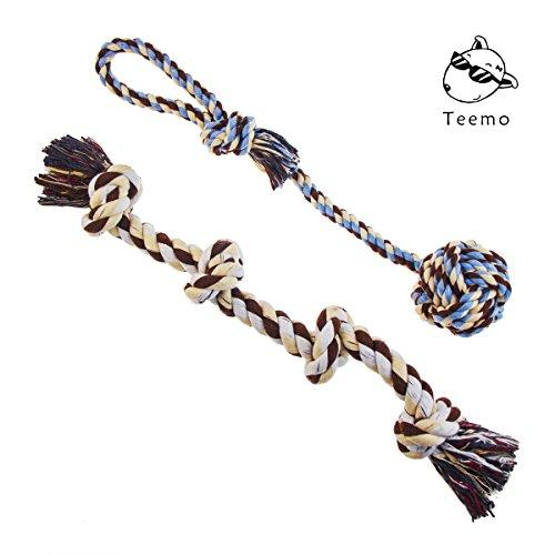 Teemo Tug of War Dog Rope Toy, Sturdy Cotton and Thick Knots For Large Breeds or Big puppies, Indoor and Outdoor Play and Dental Health