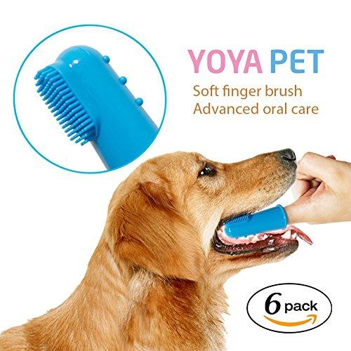 YoYa Pet Dog Toothbrush / Cat Toothbrush - Soft Finger Toothbrush For The Dental Care of Your Cat, Dog or Small Pet - 6 Pack