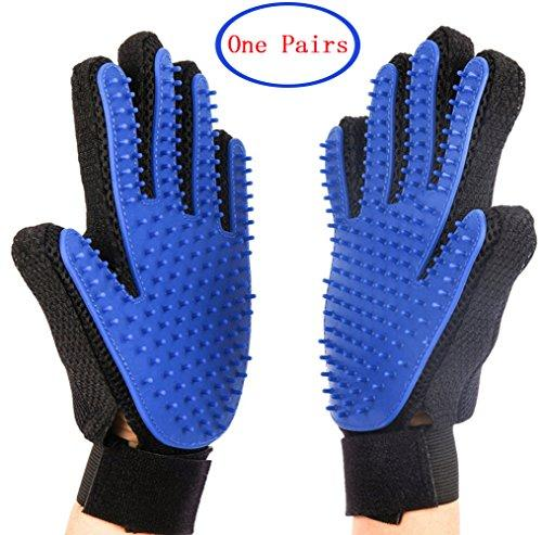 --[Upgrade Version] Pet Grooming Glove - TOOLIFE Pet Grooming Glove Tools - Deshedding Brush Glove, Perfect for Dogs & Cats with Long & Short Fur--