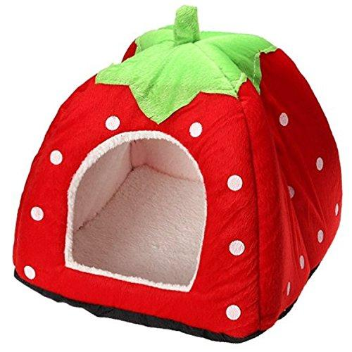 Century Star Cute Soft Small Animal Pet Winter Warm Squirrel Hedgehog Chinchilla House Cage Red S