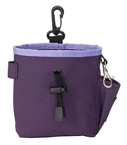The Company of Animals - CLIX Treat Bag - Hand-Free Storage for Treats, Toys, Training Accessories and Personal Items - Purple