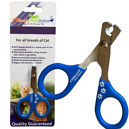 Cat Nail Clippers by KittyNails - Professional Cat Clippers Designed by 2 Veterinarians | Great Cat Claw Trimmer for Cats, Small Dogs, Birds, Rabbit, Guinea Pigs and Other Small Pets