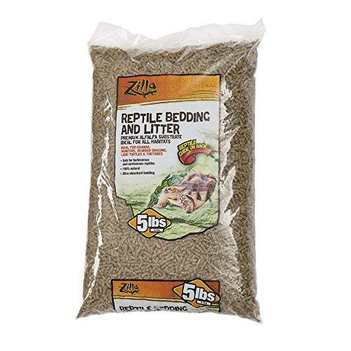 Zilla Reptile Terrarium Bedding Substrate Litter Alfalfa, 5-Pounds by Zilla