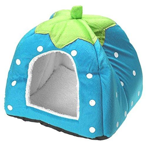 Century Star Cute Soft Small Animal Pet Winter Warm Squirrel Hedgehog Chinchilla House Cage Blue XS