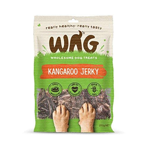 WAG Kangaroo Jerky, Grain Free Hypoallergenic Natural Australian Made Dog Treat Chew, Healthy Long Lasting Alternative - Quality Beats Junk (200g / 7-oz)