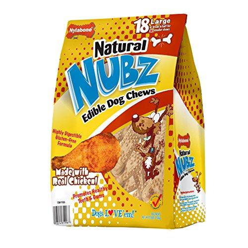 Nylabone ND970 Nubz Natural Edible Dog Chews (18 Count), Large