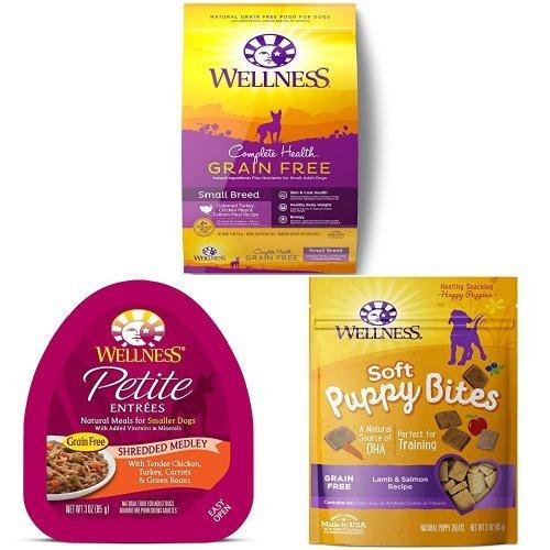 Wellness Grain Free Small Breed WellPack: Includes Complete Health Grain Free Small Breed, Petite Entrees and Petite Treats