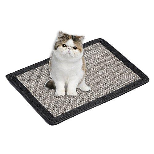 Yunt Pet Cat Kitten Scratch Pad Mat Toy Furniture Bed Mattess Protector Table Chair Sofa Legs Mat Sisal Cat Scratcher Dark Gray
