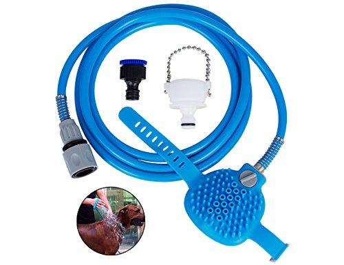 Tonsiki Pet bathing tool Shower Sprayer for Dog Combines Bathe,Shampoo Massage with 8 Foot Hose and 2 Hose Adapters