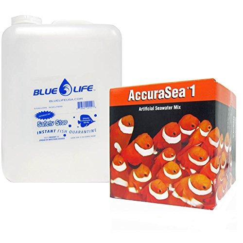 Two Little Fishies AccuraSea1 Artificial Saltwater Mix with a Blue Life 5 Gallon Water Jug
