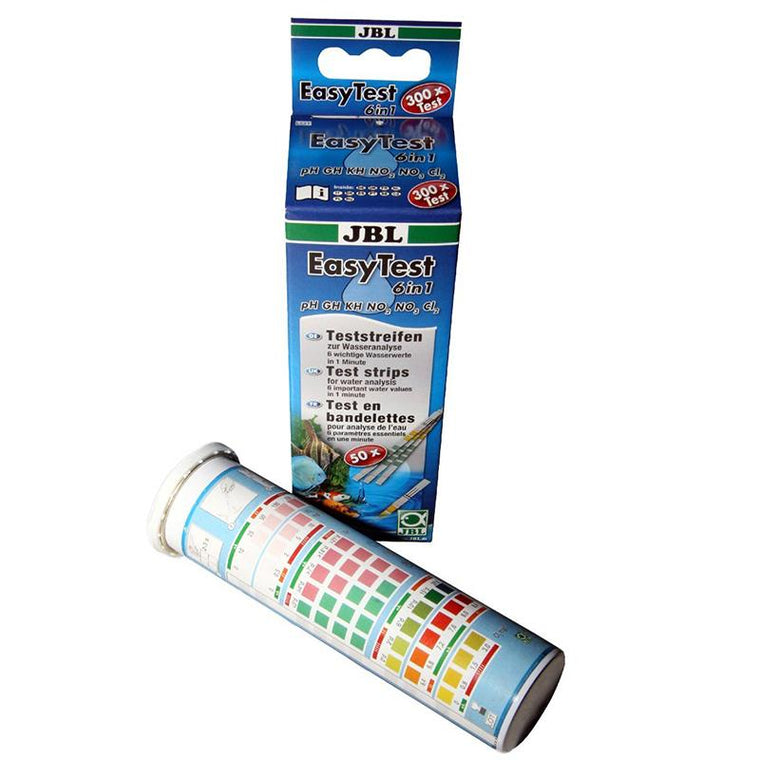 6 in 1 JBL EasyTest 50 Easy Test Strips Aquarium Water Test Kit pH GH KH Nitrite Nitrate
