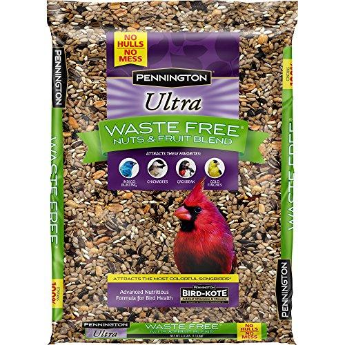 Pennington Bird Feed and Seed Nuts & Fruit Blend Waste Free, 2.5 OZ